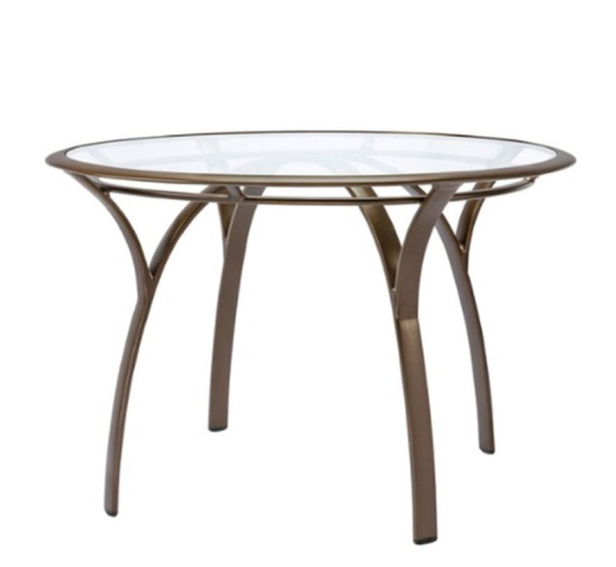 COAST / PASADENA 42 ROUND DINING TABLE WITH GLASS TOP