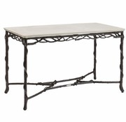 BROWN JORDAN ARBRE 24x48 CONSOLE TABLE WITH LILY TOP