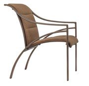 BROWN JORDAN PASADENA PADDED SLING ARM CHAIR WITH GRADE A SLING
