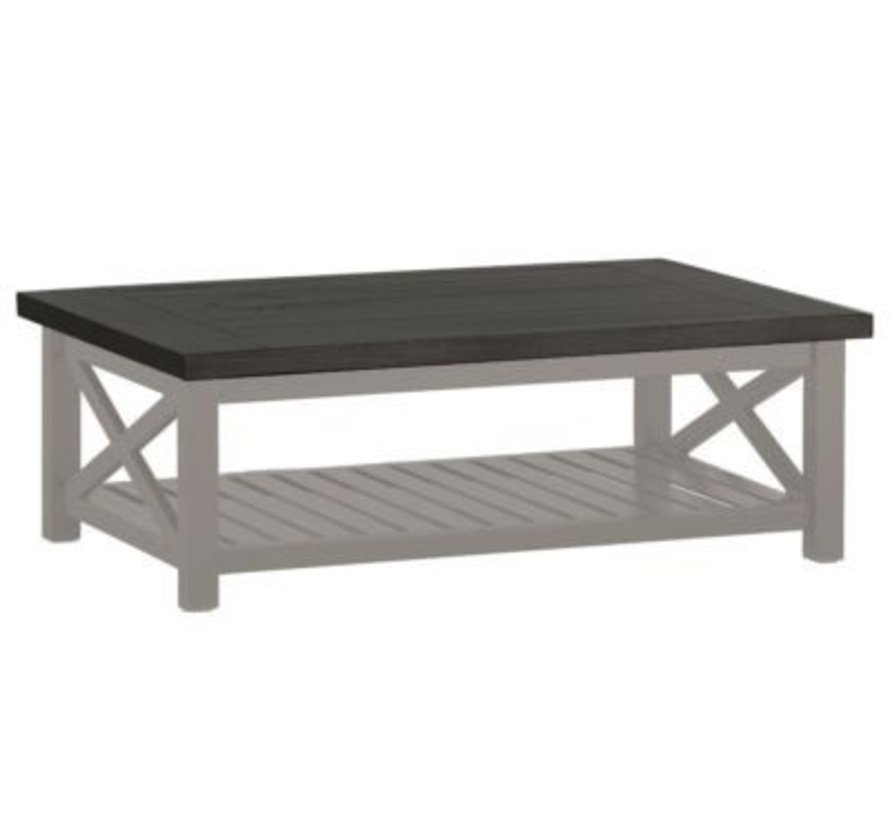 CAHABA 47x32 COFFEE TABLE OYSTER BASE WITH SLATE GRAY TOP