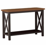 SUMMER CLASSICS CAHABA 50x19 CONSOLE TABLE WITH OYSTER BASE AND SLATE GRAY TOP