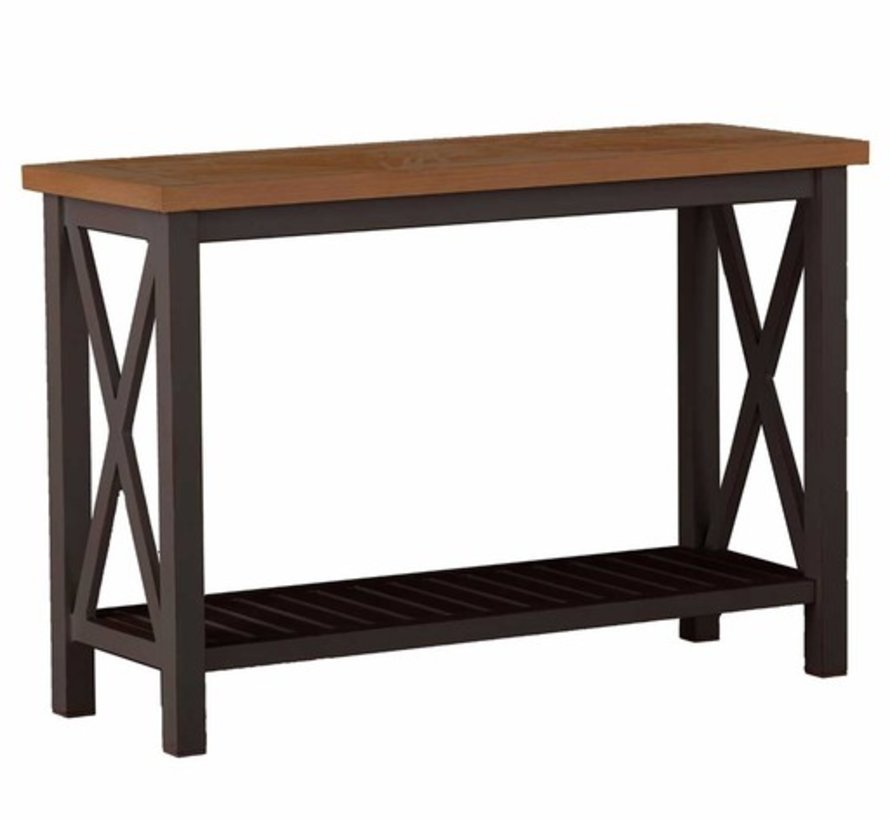 CAHABA 50x19 CONSOLE TABLE WITH OYSTER BASE AND SLATE GRAY TOP