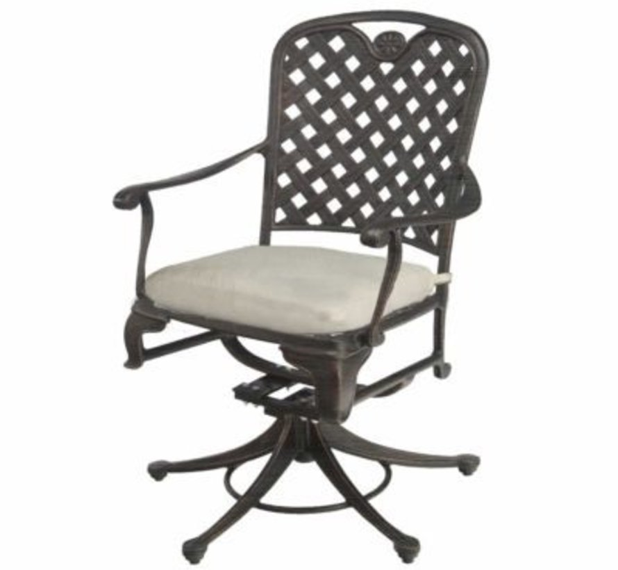 PROVANCE SWIVEL ROCKER DINING CHAIR IN ANCIENT EARTH FINISH