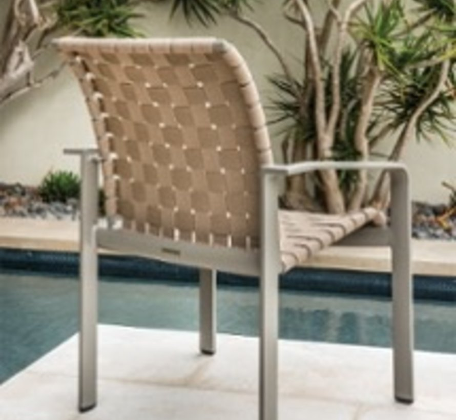 Swell Brown Jordan Softscape Strap Dining Arm Chair Kolo Collection Download Free Architecture Designs Scobabritishbridgeorg