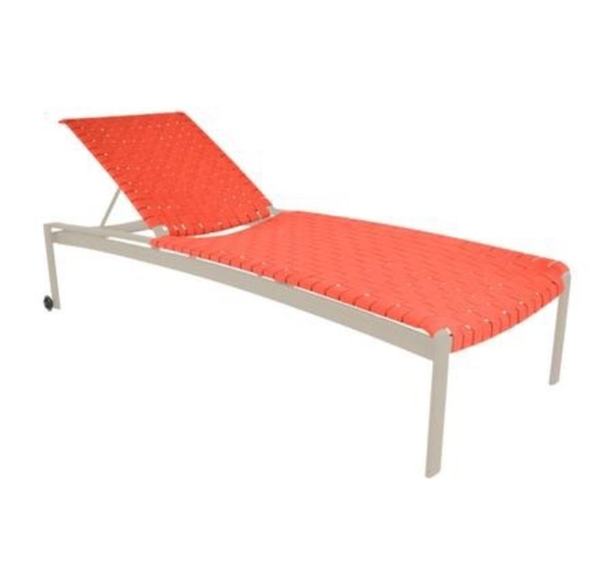SOFTSCAPE STRAP STACKING ADJUSTABLE CHAISE WITH WHEELS
