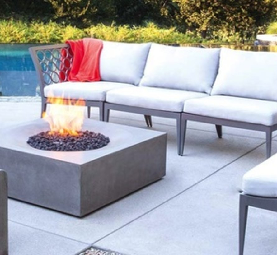 SOLSTICE BIOETHANOL FIRE TABLE IN NATURAL