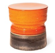 SEASONAL LIVING CERAMIC ANCARIS STOOL - ORANGE AND BRONZE
