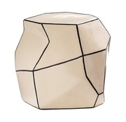 SEASONAL LIVING CERAMIC ARTISAN SERIES GEO STOOL/ACCENT TABLE