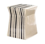 SEASONAL LIVING CERAMIC ARTISAN SERIES ASHLAR STOOL/ACCENT TABLE
