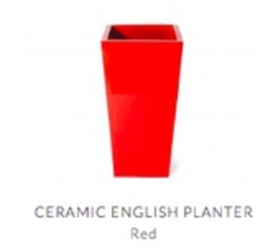CERAMIC ENGLISH PLANTER - BLACK