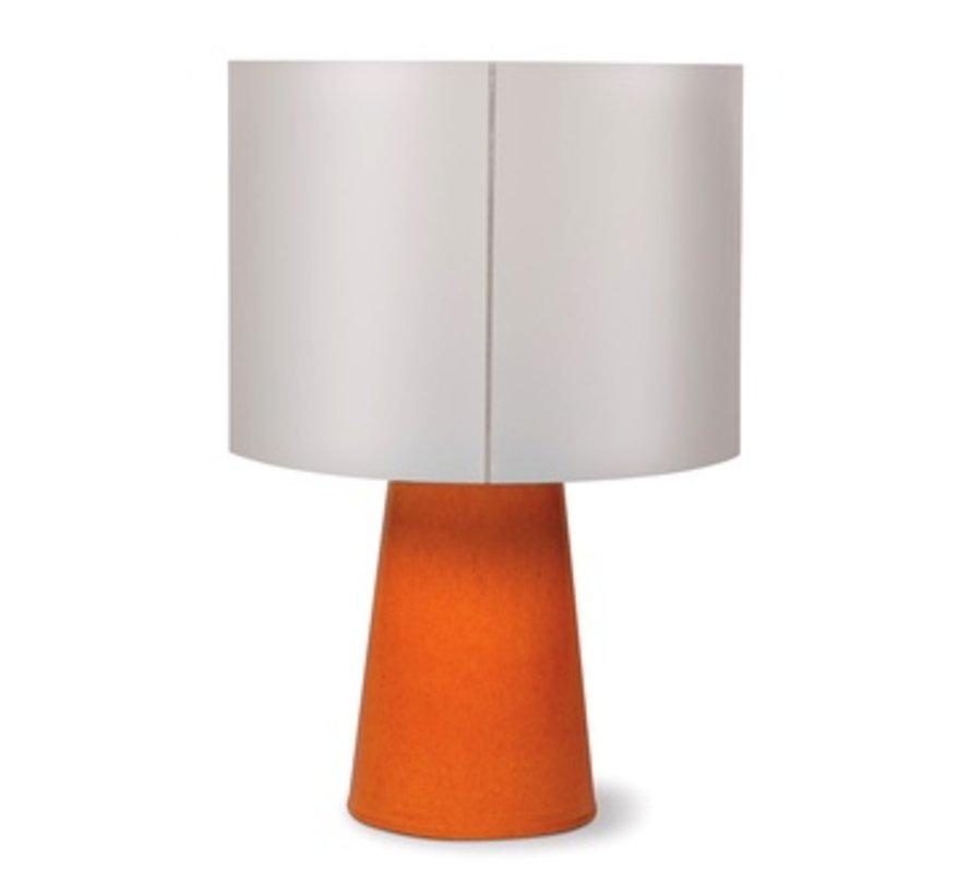 INDA COPENHAGEN CERAMIC CORDLESS OUTDOOR LED TABLE LAMP - ORANGE