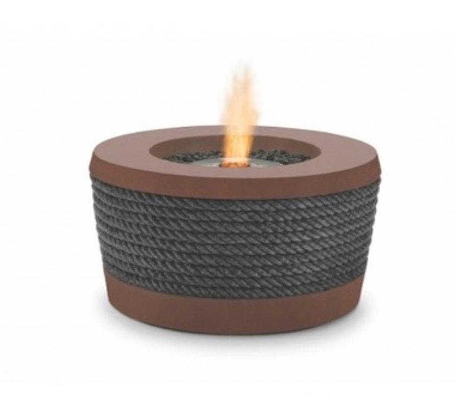 LOOP BIOETHANOL FIRE ELEMENT IN RUST