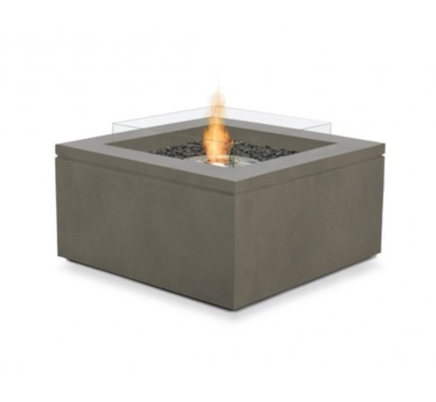 QUAD BIOETHANOL FIRE TABLE IN NATURAL