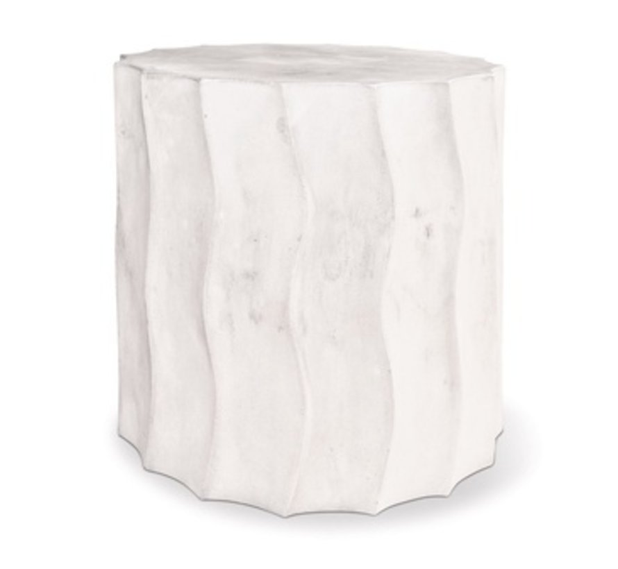 WAVE ACCENT TABLE SHORT IVORY WHITE