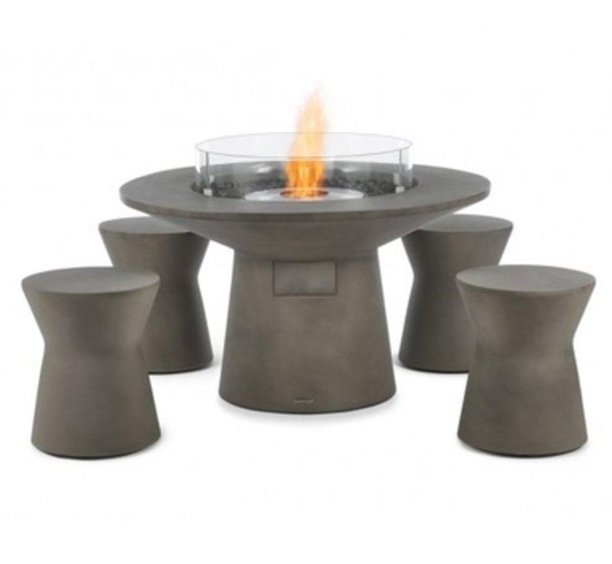 PIVOT STOOL OR SIDE TABLE, BONE