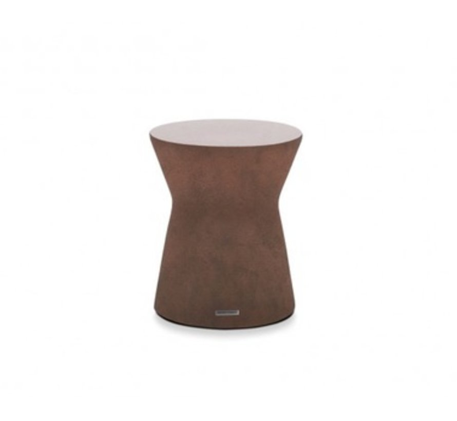 PIVOT STOOL OR SIDE TABLE, RUST