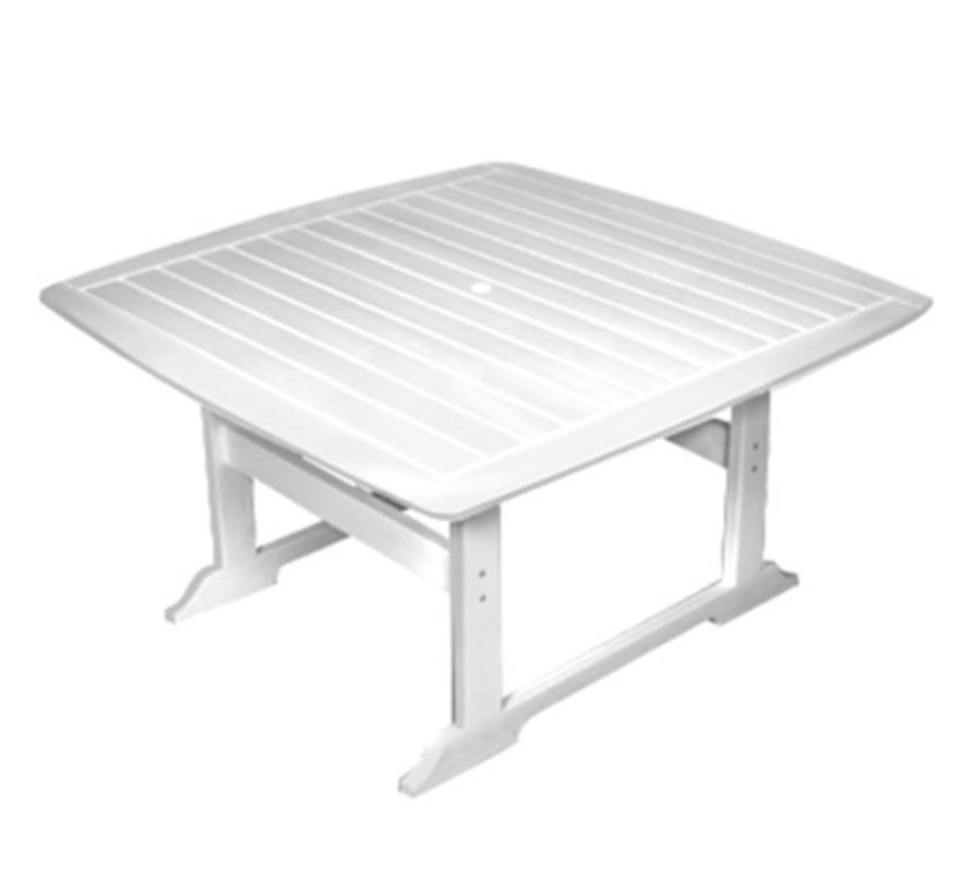 PORTSMOUTH 56 INCH SQUARE DINING TABLE - WHITE