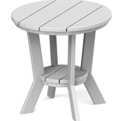 SEASIDE CASUAL MAD ROUND SIDE TABLE - WHITE