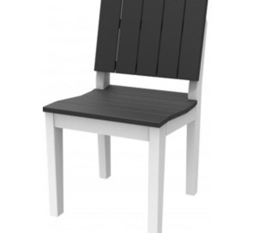 MAD FUSION DINING SIDE CHAIR - GRAY FRAME / NAVY SLATS