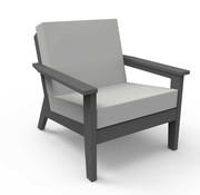 SEASIDE CASUAL DEX CLUB CHAIR - CHARCOAL