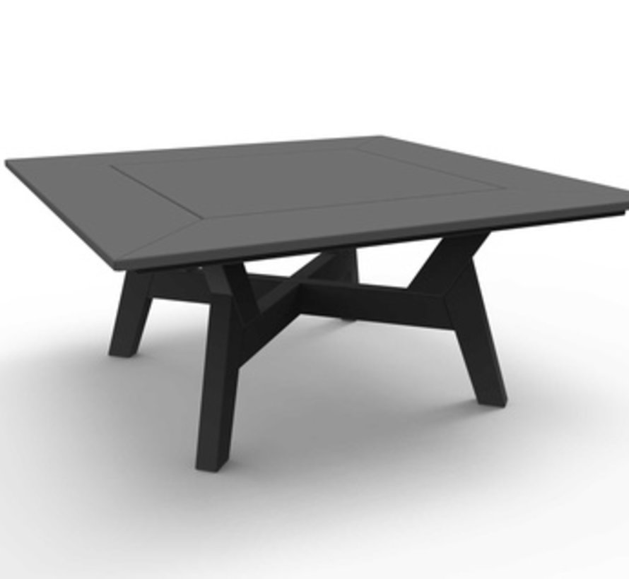 DEX 36 INCH SQUARE CHAT TABLE - CHARCOAL