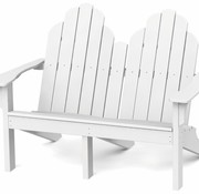 SEASIDE CASUAL ADIRONDACK CLASSIC LOVE SEAT - CHERRY