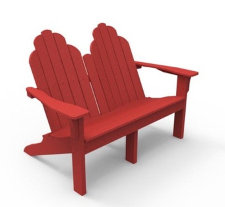 ADIRONDACK CLASSIC LOVE SEAT - CHERRY