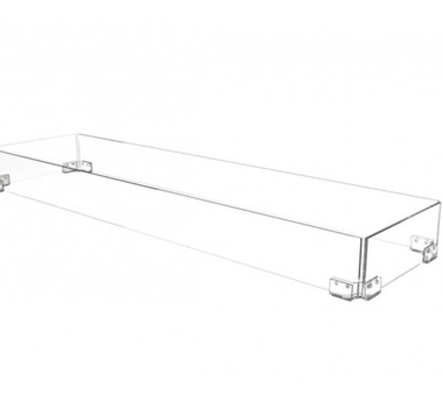 62 LINEAR GLASS SCREEN FOR THE FLO