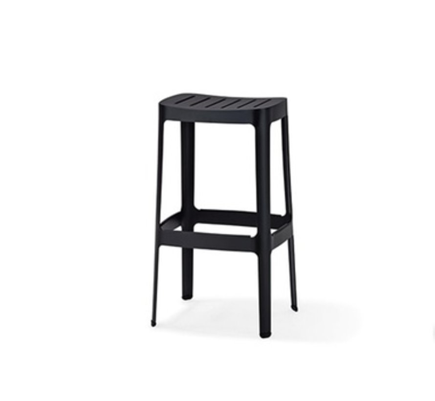 CUT BAR CHAIR IN BLACK ALUMINUM