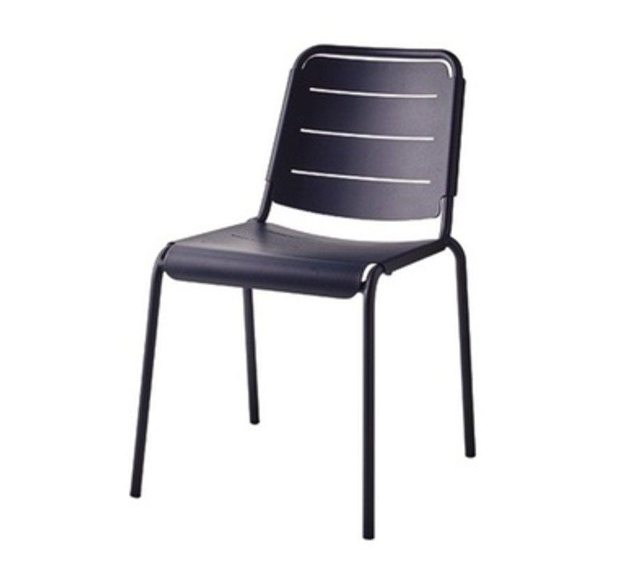 COPENHAGEN CITY CHAIR IN MIDNIGHT BLUE ALUMINUM / SOLD IN SETS OF 2 ONLY