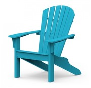 SEASIDE CASUAL ADIRONDACK SHELLBACK CHAIR - POOL BLUE