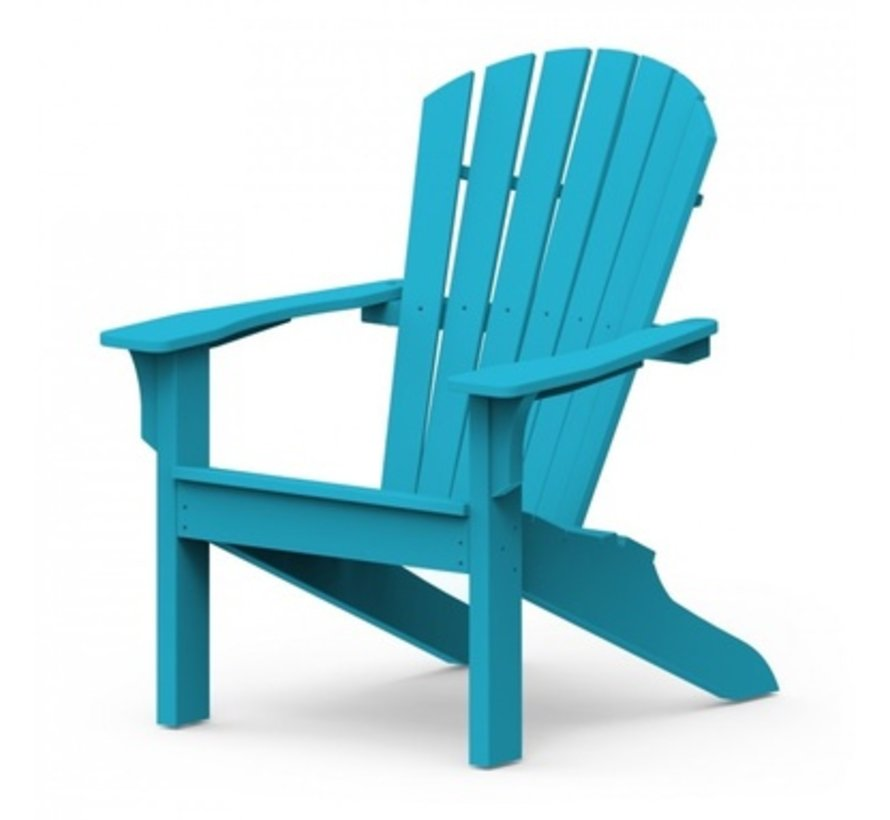 ADIRONDACK SHELLBACK CHAIR - POOL BLUE