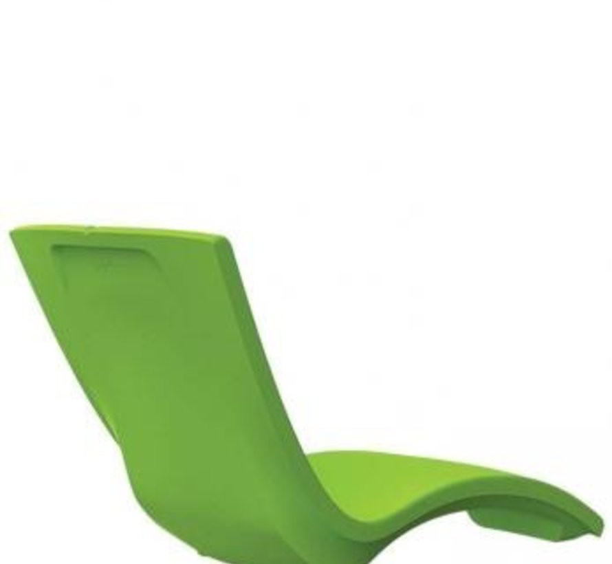 CURVE CHAISE LOUNGE IN BRIGHT GREEN