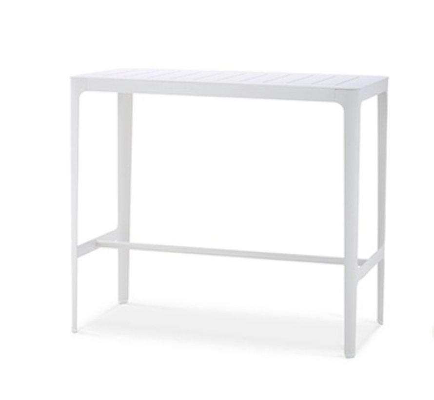 CUT BAR TABLE IN WHITE ALUMINUM