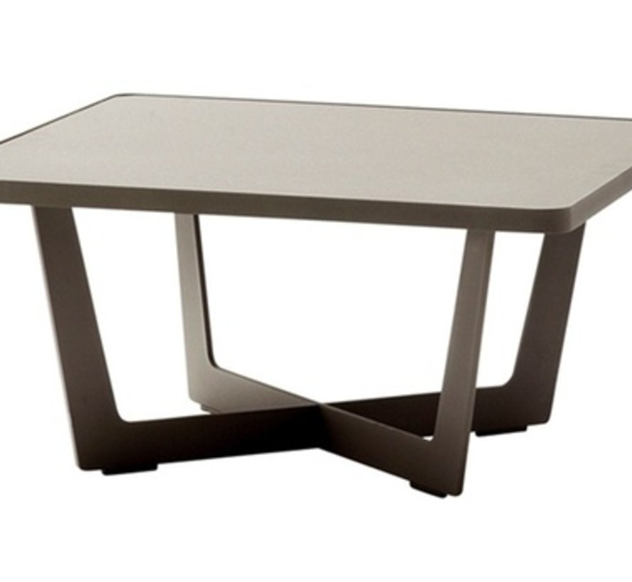TIME OUT 32x32 LARGE COFFEE TABLE IN LAVA GREY, ALUMINUM