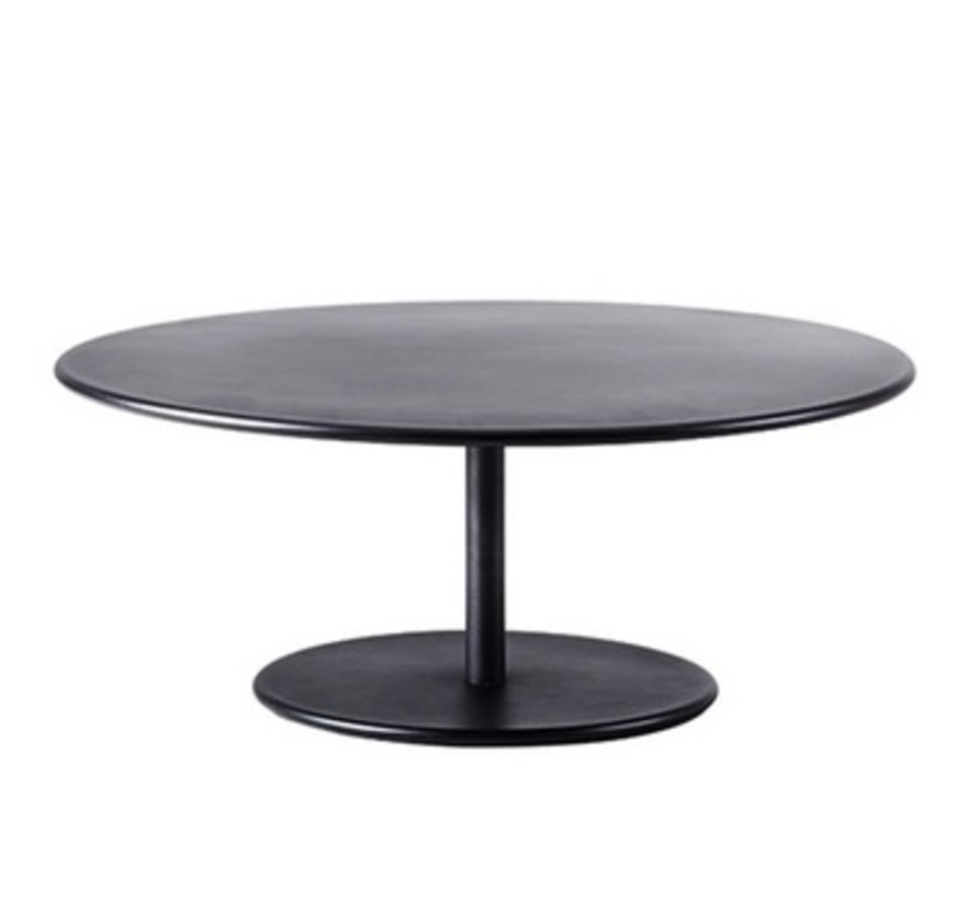 GO COFFEE TABLE BASE WITH 43 INCH TOP IN LAVA GREY ALUMINUM