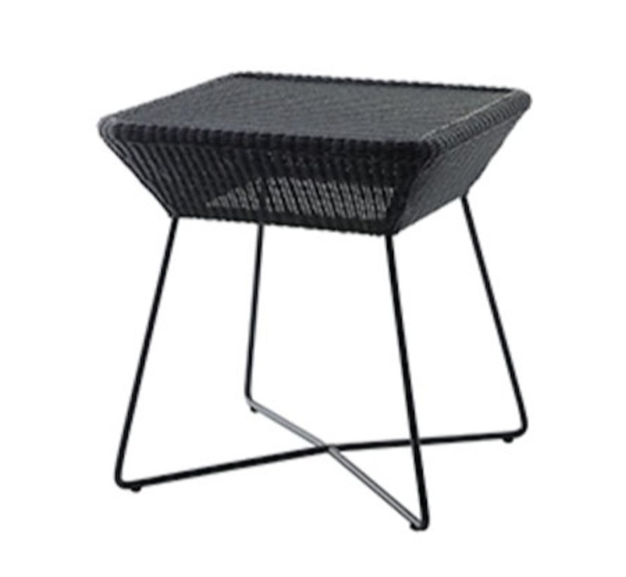 BREEZE SIDE TABLE IN BLACK CANE-LINE FIBRE