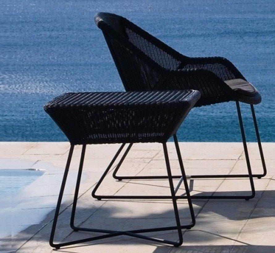 BREEZE SIDE TABLE IN BLACK CANE-LINE FIBRE
