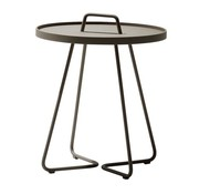 CANE-LINE ON-THE-MOVE SIDE TABLE, SMALL IN TAUPE
