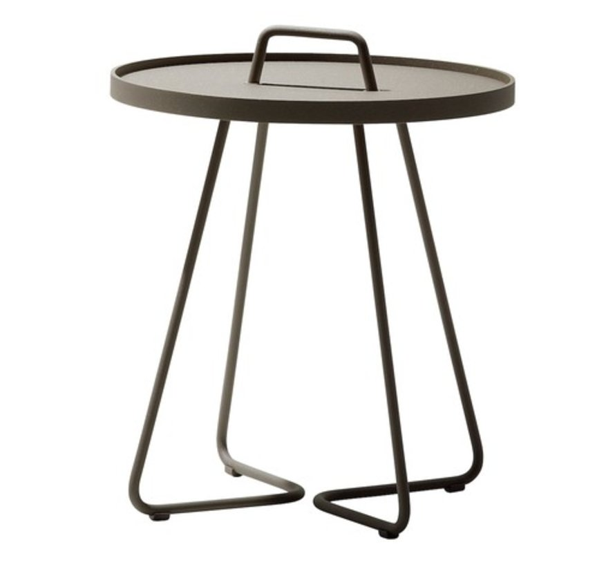 ON-THE-MOVE SIDE TABLE, SMALL IN TAUPE