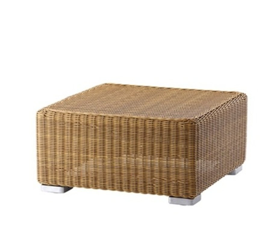 CHESTER FOOTSTOOL IN NATURAL CANE-LINE FIBRE