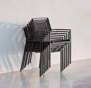 CANE-LINE EDGE ARM CHAIR IN ANTHRACITE, CANE-LINE ROPE