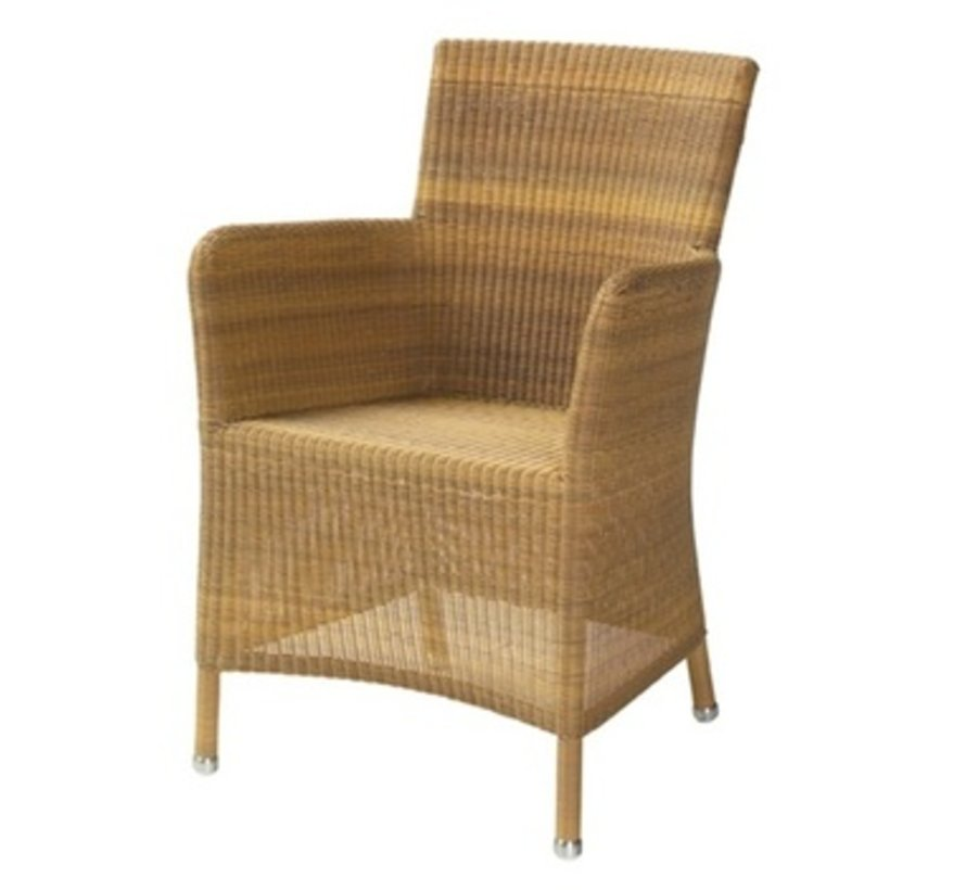 HAMPSTED ARM CHAIR IN NATURAL CANE-LINE FIBRE