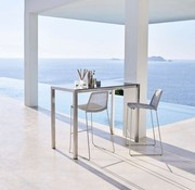 BREEZE BAR CHAIR IN WHITE CANE-LINE FIBRE