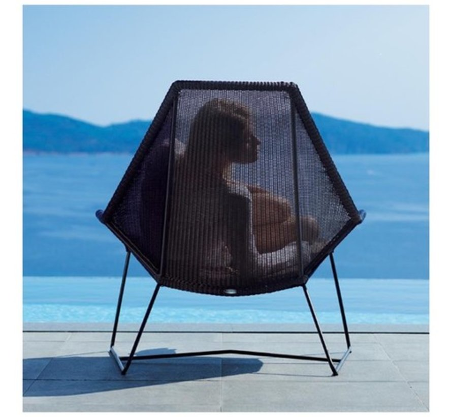 BREEZE HIGHBACK CHAIR IN BLACK CANE-LINE FIBRE