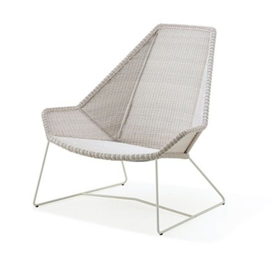 BREEZE HIGHBACK CHAIR IN WHITE GREY CANE-LINE FIBRE