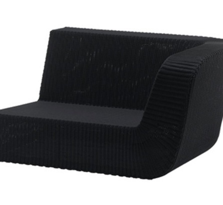 SAVANNAH 2-SEATER SOFA LEFT MODULE IN BLACK, CANE-LINE FIBRE