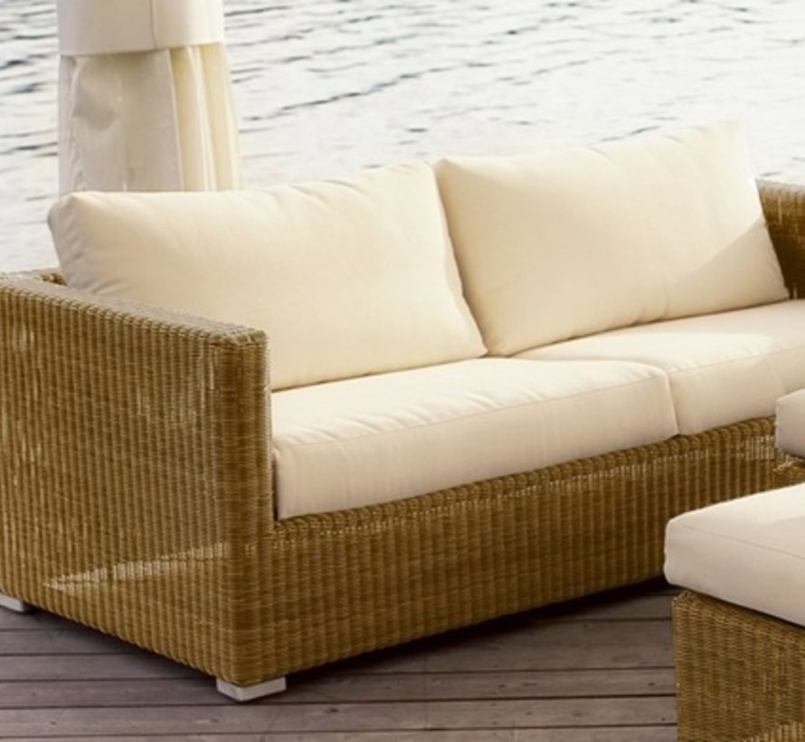 CHESTER 3-SEATER SOFA IN NATURAL CANE-LINE FIBRE