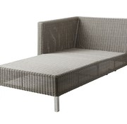 CANE-LINE CONNECT CHAISE LOUNGE MODULE, RIGHT IN TAUPE