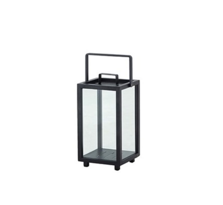 LIGHTHOUSE LANTERN, SMALL LAVA GREY, ALUMINUM